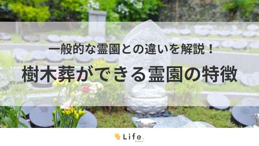 樹木葬ができる霊園の特徴と一般的な霊園の違いを解説!