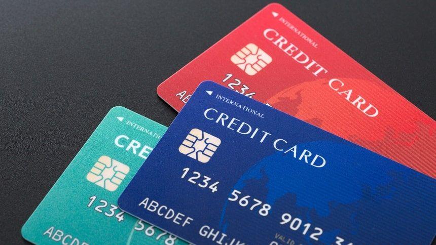 3枚のクレジットカードの写真
