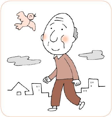 ④外出や人との交流を促す適度な運動が必要なので外出を促すとよい。