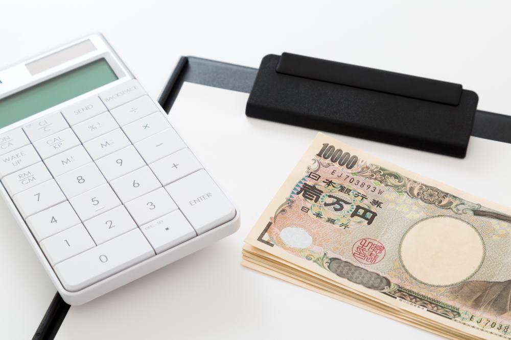 計算機、お金、相続税