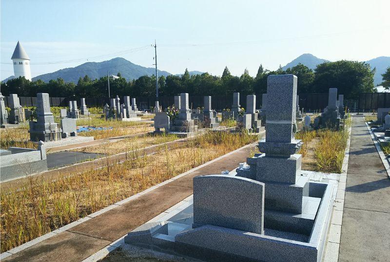 岡山市営 なださきメモリーパークの墓地全景