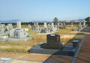 岡山市営 なださきメモリーパークの墓地風景