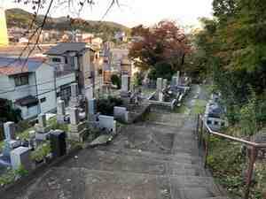 京都市営 地蔵山墓地の階段