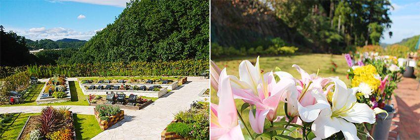 花と緑に満ち溢れた北摂池田メモリアルパークの景観