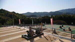 箕島丘墓苑から一望する風景