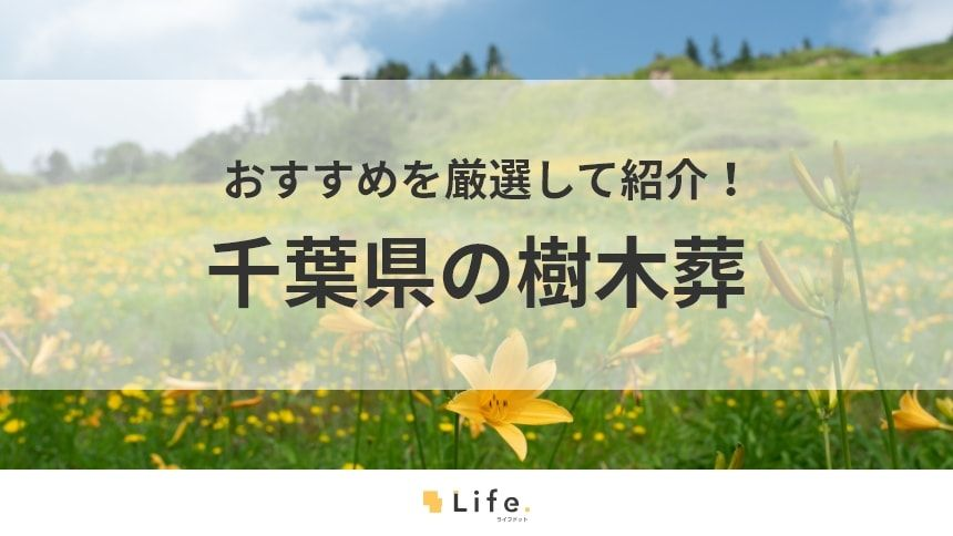 【2020年版】千葉県の樹木葬12選!希望の樹木葬を探す5つのポイント