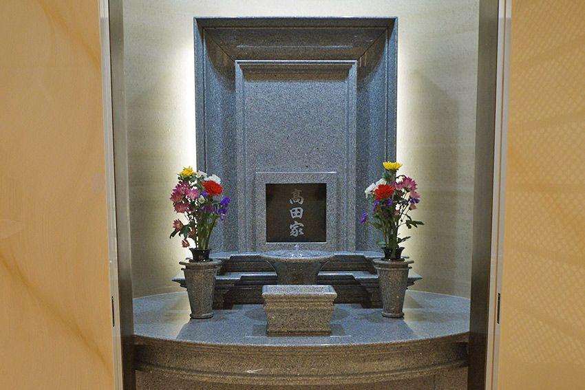 東向島 たから陵苑にある庵治石の墓石