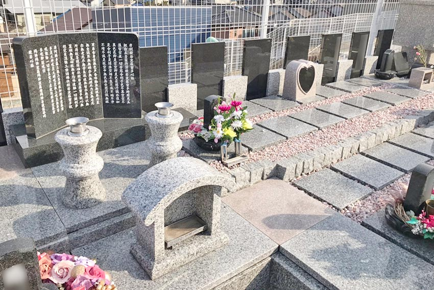 墓友葬聖地苑の墓地風景