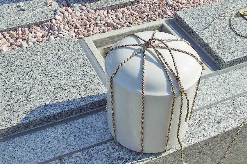 墓友葬聖地苑の骨壺につける五色の紐