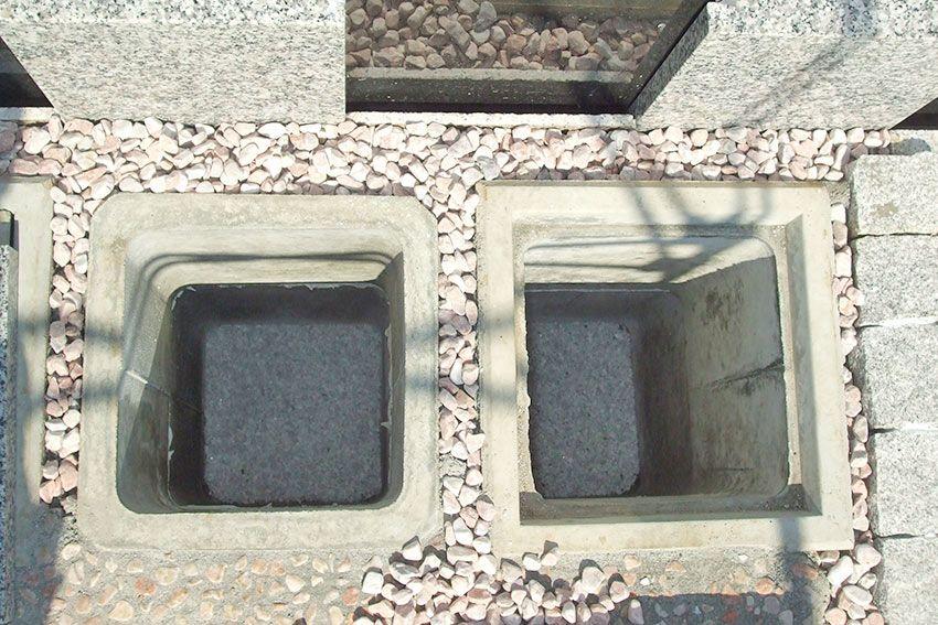 墓友葬聖地苑のカロート(納骨スペース)