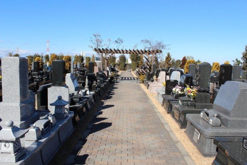 メモリアルガーデン新座の墓地全景