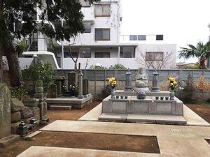 ゆったりとした墓所