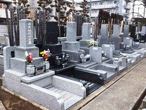 きちんと管理された墓所