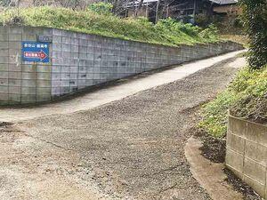 金谷霊園前の道