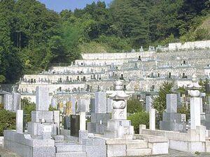 美しい段々造りの逗子霊苑