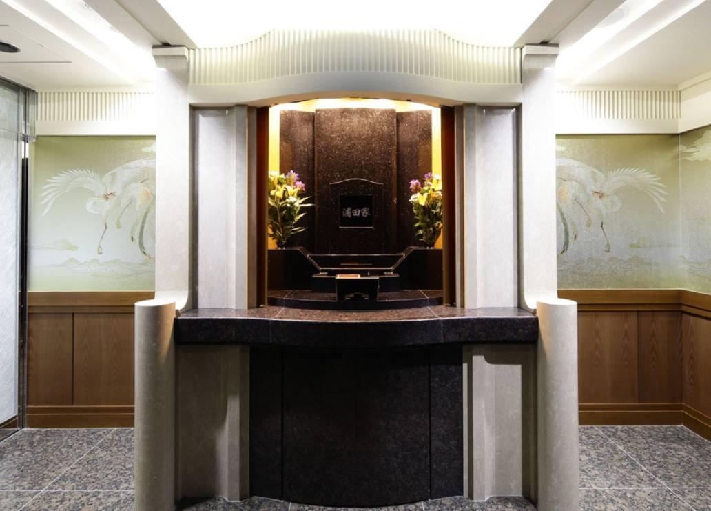 ひかり陵苑の個室の参拝スペース