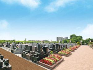 青空が広がる、開放感たっぷりの吉川美南霊園