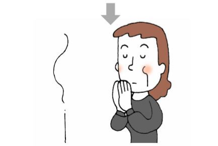 冥福を祈る