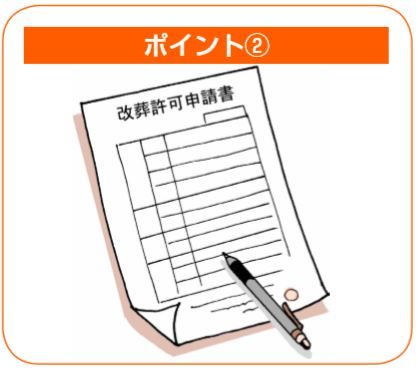 改葬許可申請書の記入
