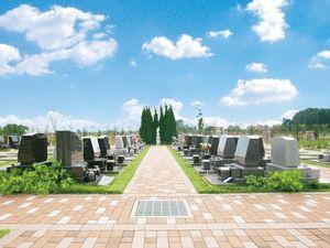 大宮霊園の墓地全景