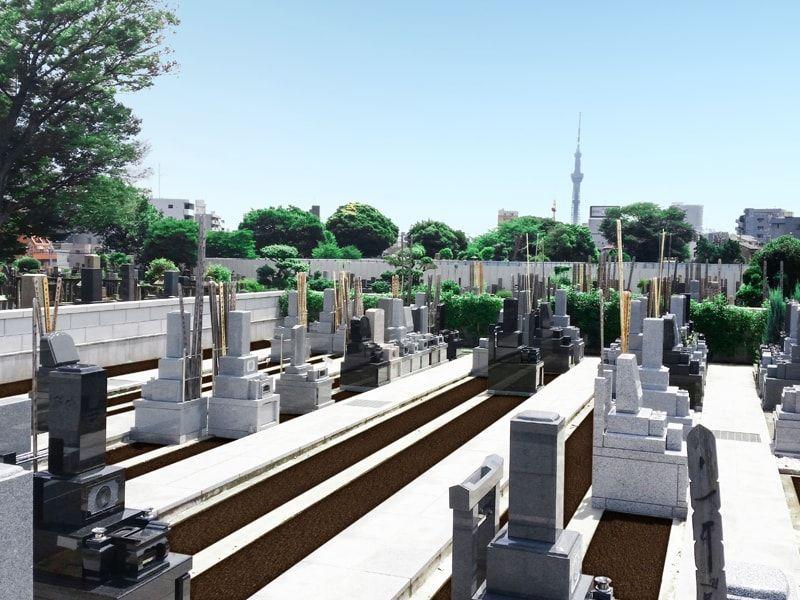 寛永寺谷中霊園の墓所