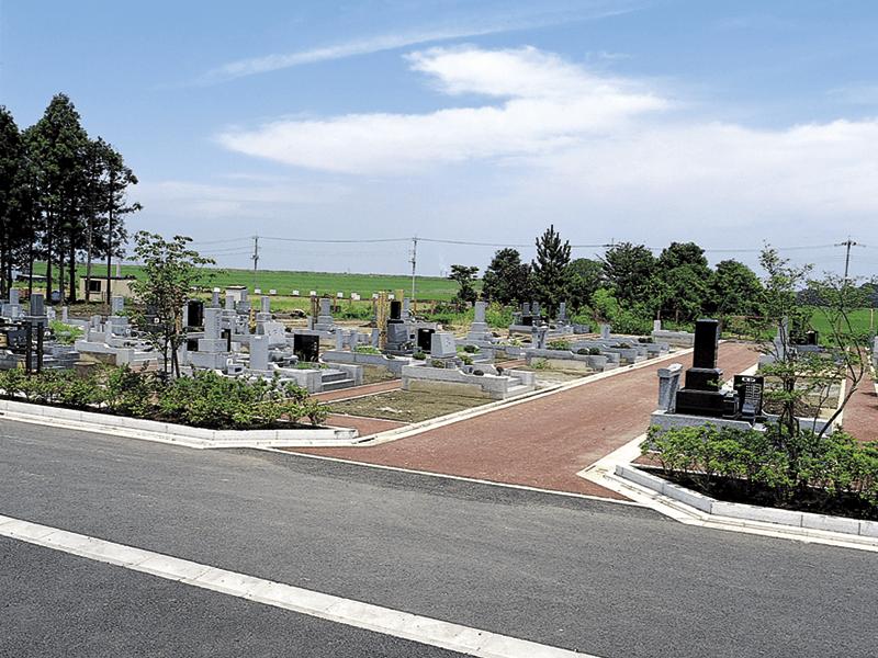 関宿墓苑のお墓区画風景