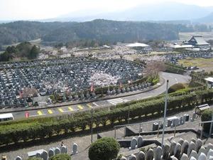 比叡山延暦寺大霊園の墓域風景