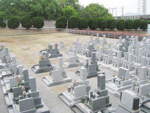 原・東山霊園の墓域