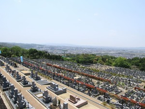 宇治霊園の墓域雰囲気