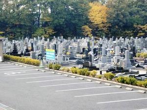 禅台霊苑の駐車場