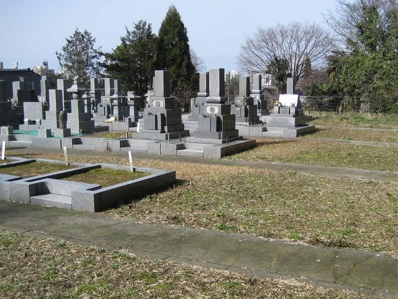 最勝寺墓苑の墓地雰囲気