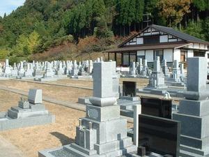 白山霊園の墓地雰囲気