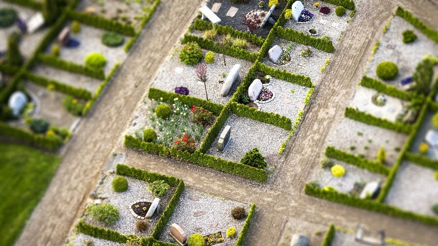 霊園・墓地の模型