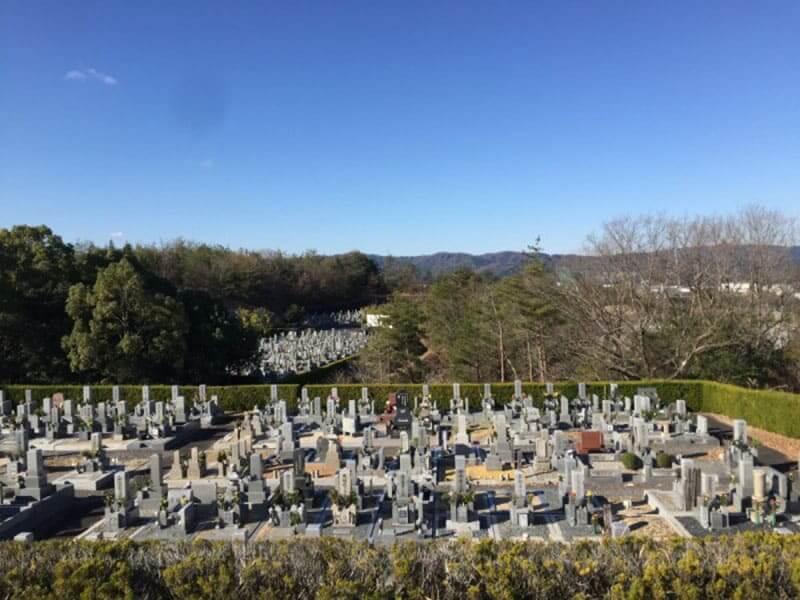 名張市営 東山墓園墓域の雰囲気
