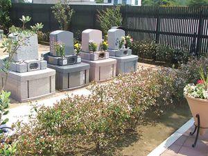 西上尾メモリアルガーデン 洋型墓石建墓例