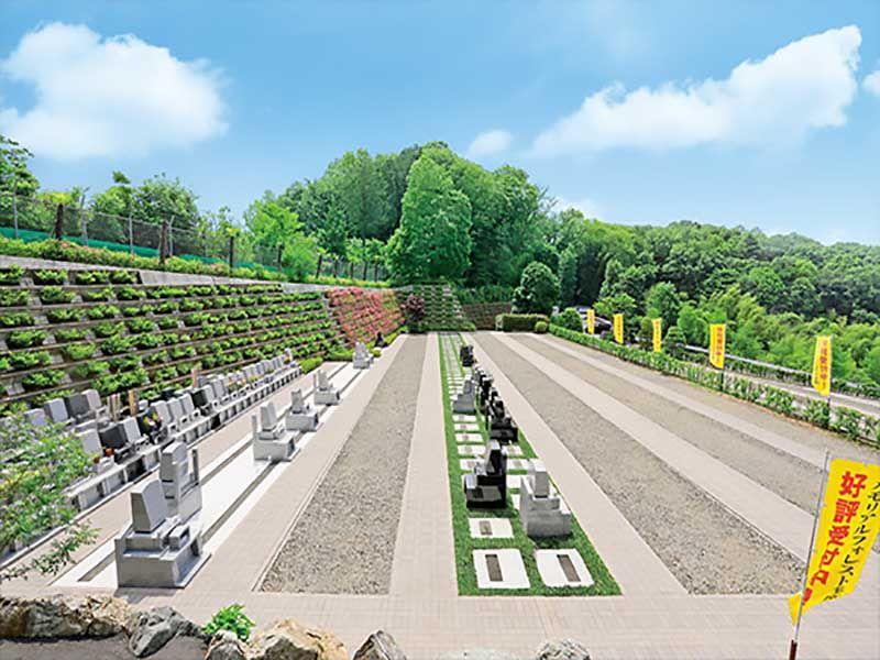 メモリアルフォレスト多磨の整備された新区画