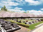上尾霊園の洋型墓石が建てられている墓域