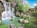 メモリアルフォレスト多磨の小さな滝