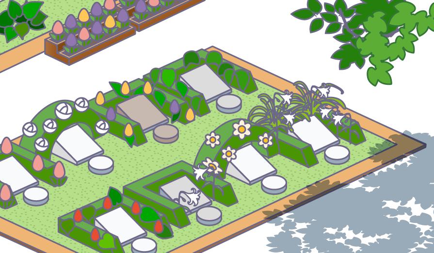 ガーデニング霊園のイラスト