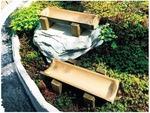 樹木葬「緑波」の中にある竹の器