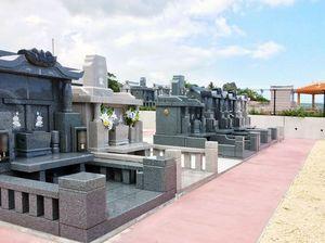 八重瀬メモリアルパークの墓石イメージ