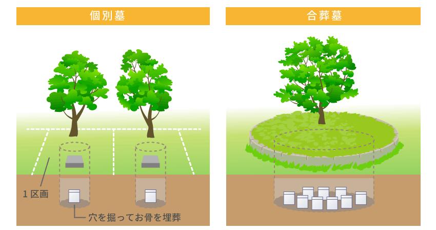 樹木葬の埋葬方法